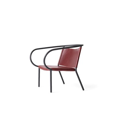 Afteroom Lounge Chair Upholstery: Burgundy Red