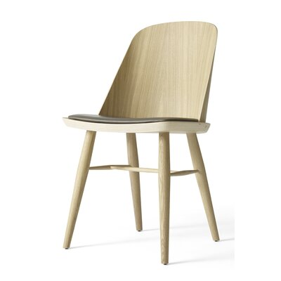Synnes Genuine Leather Upholstered Dining Chair Finish: Natural Oak