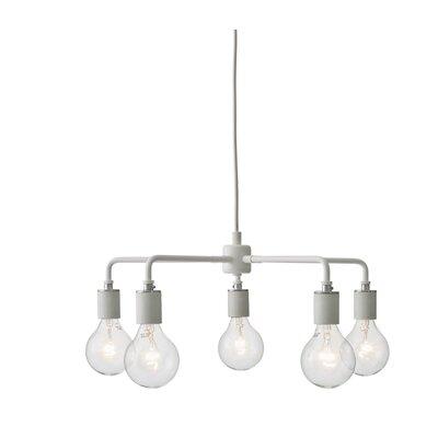 Tribeca Leonard 5-Light Sputnik Chandelier Finish: White