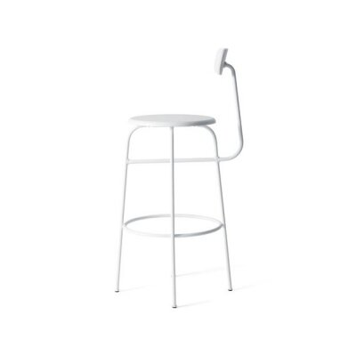 25.5 Bar Stool Upholstery: White