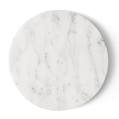 Wire Marble Top Color: White