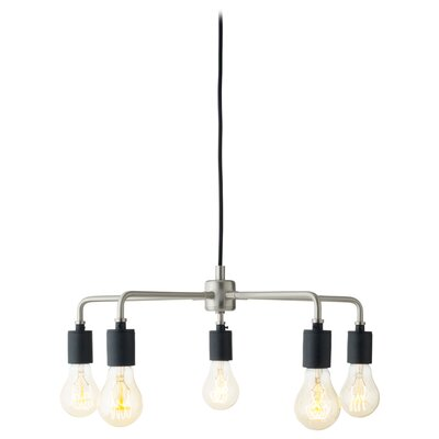 Tribeca Leonard 5-Light Sputnik Chandelier Finish: Brushed Steel