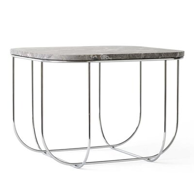 Cage End Table Color: Chrome/Gray Marble