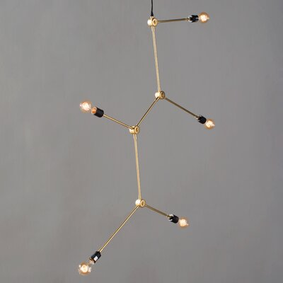 Tribeca Harrison 5-Light Sputnik Chandelier Finish: Brass