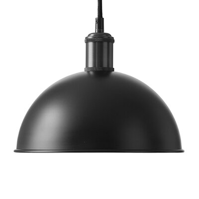 Tribeca Hubert 1-Light Inverted Pendant Finish: Black