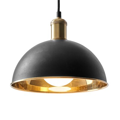 Tribeca Hubert 1-Light Inverted Pendant Finish: Bronzed Brass