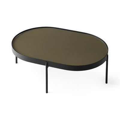 NoNo Coffee Table Color: Brown Glass, Size: 23.4 H x 19.7 W x 19.7 D