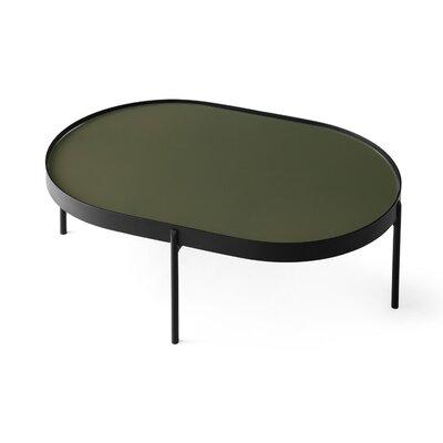 NoNo Coffee Table Color: Dark Green Glass, Size: 29.5 H x 38 W x38 D