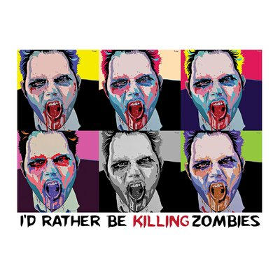 Kreloff Zombie 6 Up Wall Decal