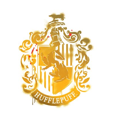 Harry Potter 7 Hufflepuff Crest Wall Decal