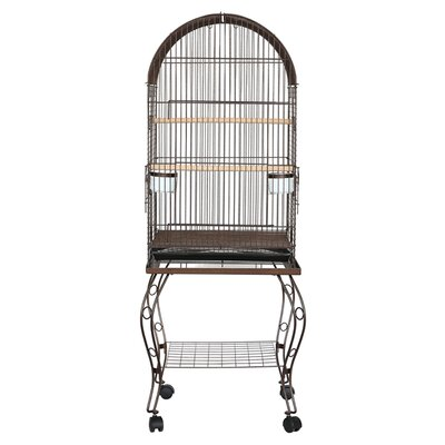 Harlan Dome Top Parrot Bird Cage with Stand Color: Antique Copper