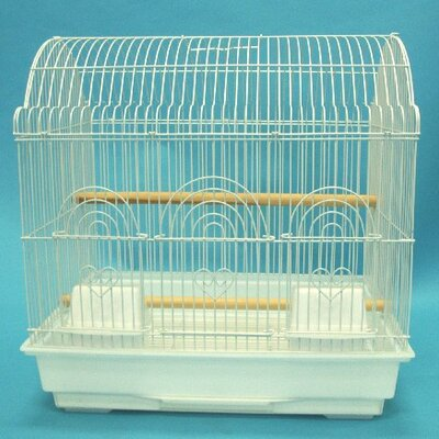 Barn Top Bird Cage Color: White