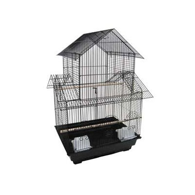 Pagoda Small  Bird Cage Color: Black