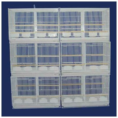 Lot of Six Small Bird Cage with Divider Color: White