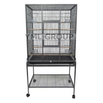 Bird Aviary with Stand Color: Antique Silver