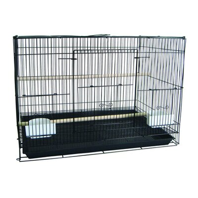 Small Bird Cage Color: Black