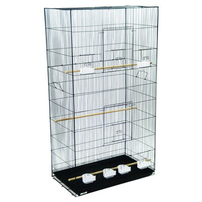 Extra Large Bird Cage Color: Black