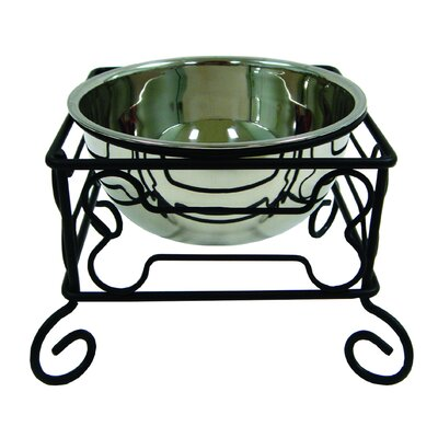 "Feeder with Single Bowl Size: Medium (6.75"" H x 8.25"" W x 8.25"" D) DSB7"
