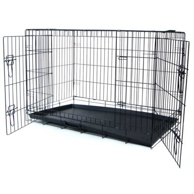 Double Door Heavy Duty Pet Crate Size: 31 H x 48 W x 27 L