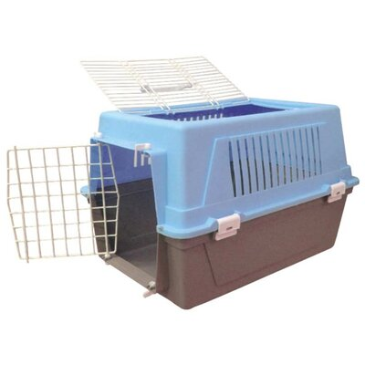 Plastic Small Animal Pet Carrier Color: Blue
