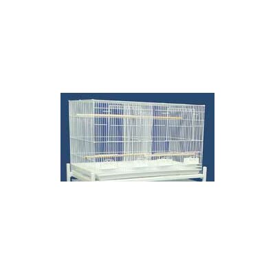 Bird Cage with Divider Color: White