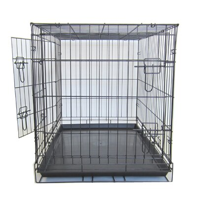 Double Door Pet Crate Size: 48 (31 H x 27 W x 48 W)