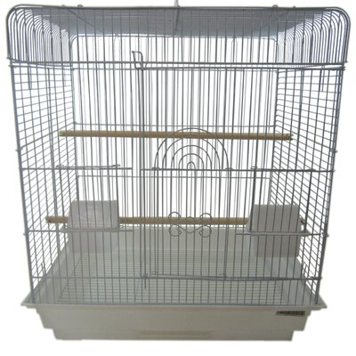 Flat Top Small  Bird Cage Color: White