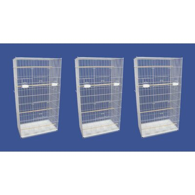 Lot of Three X-Large Bird Cage Color: White