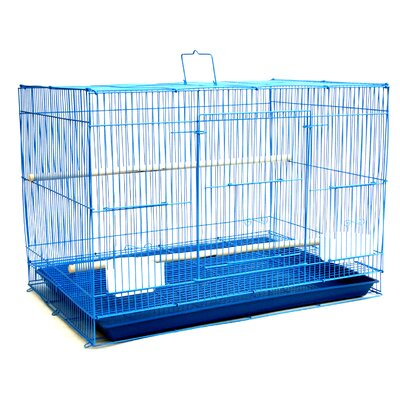 Small Bird Cage Color: Blue