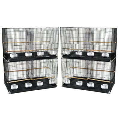 Lot of Four Medium Bird Cage with Divider Color: Black