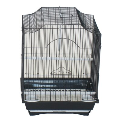 Iglesias Cornerless Flat Top Bird Cage Color: Black