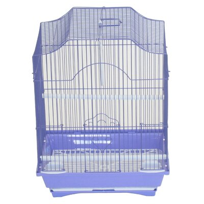 Iglesias Cornerless Flat Top Bird Cage Color: Purple