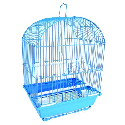 Top Cage With Food Access Door Color: Blue