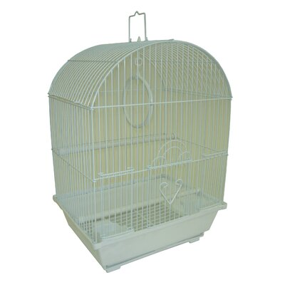 Top Cage With Food Access Door Color: White