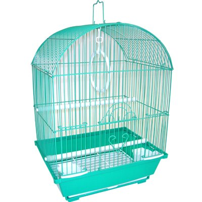 Top Cage With Food Access Door Color: Green