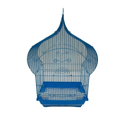 Taj Mahal Top Shape Bird Cage Color: Blue