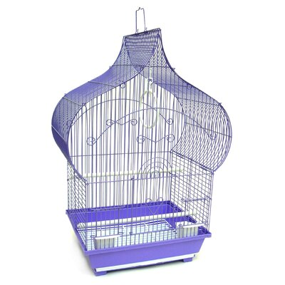 Taj Mahal Top Shape Bird Cage Color: Purple