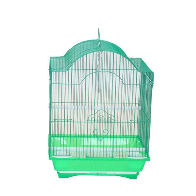 Cornerless Round Top Shape Bird Cage Color: Green