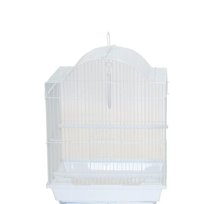 Cornerless Round Top Shape Bird Cage Color: White