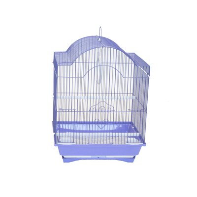 Opus Cornerless Round Top Shape Bird Cage Color: Purple