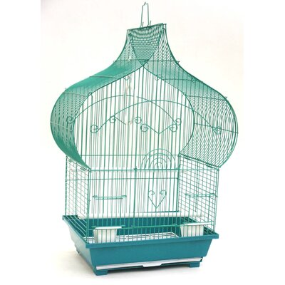 Huron Taj Mahal Top Shape Bird Cage Color: Green