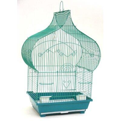 Taj Mahal Top Shape Bird Cage Color: Green