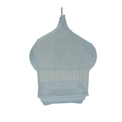 Taj Mahal Top Shape Bird Cage Color: White
