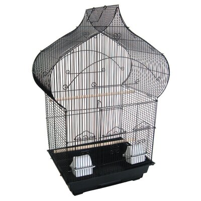 Taj Mahal Top Shape Bird Cage Color: Black