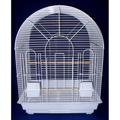 Round Top Small  Bird Cage Color: White