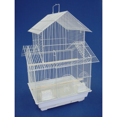 Pagoda Small  Bird Cage Color: White