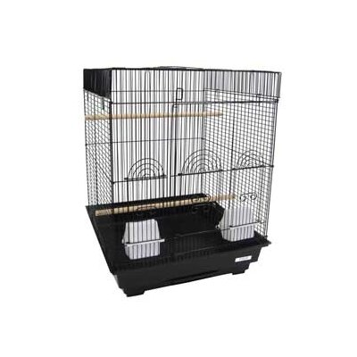 Flat Top Small  Bird Cage Color: Black