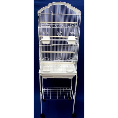 Shell Top Small Bird Cage with Stand