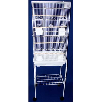 Tall Square Top Small Bird Cage with Stand