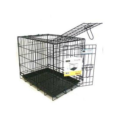 Double Door Heavy Duty Pet Crate Size: 20 H x 24 W x 17 L